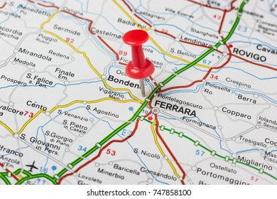 Road Map City Rovigo Italy Stock Photo Royalty Free 710309971