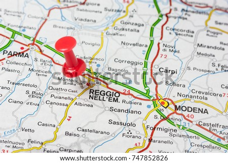 Road Map City Reggio Emilia Italy Stock Photo Edit Now 747852826