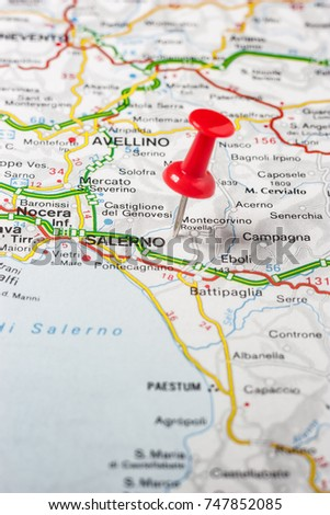 Road Map City Salerno Italy Stock Photo Edit Now 747852085