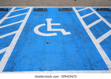 Road marking for disabled parking