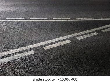 Road marking lines transportation background