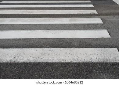 road marking pedestrian crossing close-up