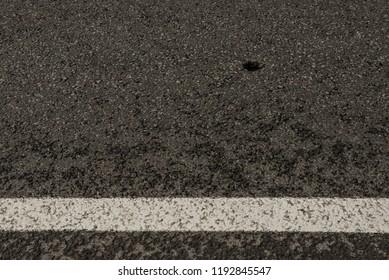 road with markup and roadblock roadblock