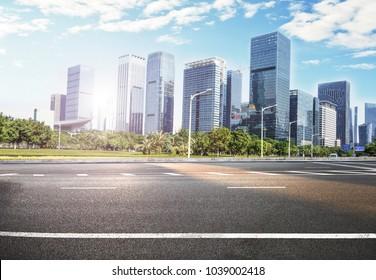 road in modern city