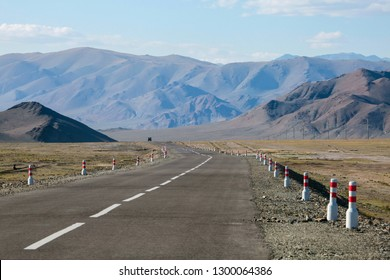 The road in Mongolia, deserted mountains