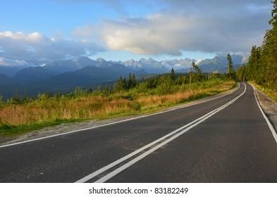 Road to Morskie Oko in Polish High Tatra Mountains