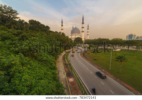 Road to the mosque in the evening