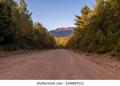 The road to Mount Katahdin