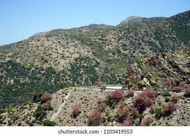 Road in mountain area of Krete island, Greece