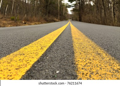 Road in the mountain, close-up of asphalt