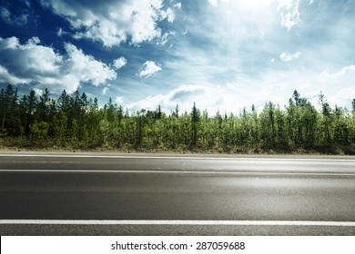 road in mountain forest