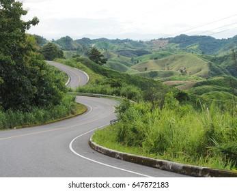 Road to the mountain, Nan, Chiangmai, Thailand