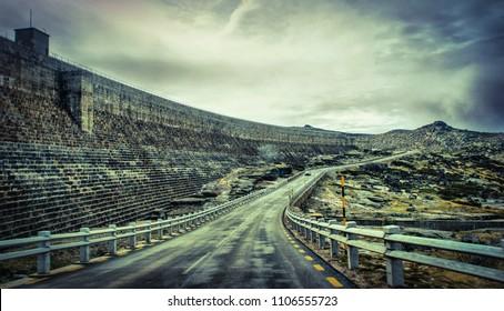 Road mountain in Serra da Estrela, Portugal