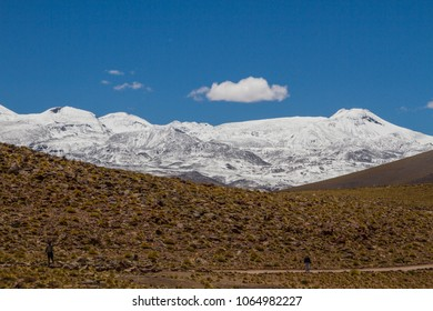 Road, mountain and snow