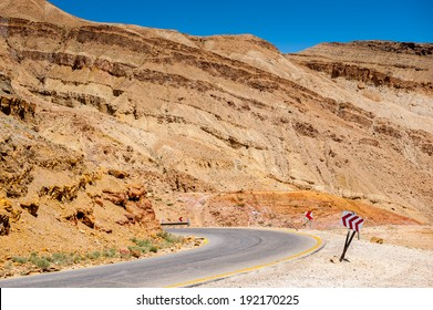 Road of the mountains in Jordan