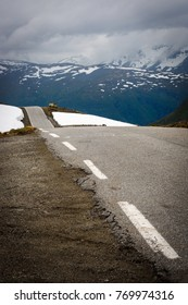 Road up in the mountains in Norway in summer