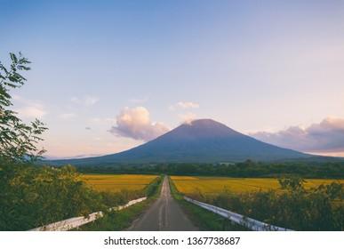 Road to Mt. Yotei, Niseko Hokkaido Japan