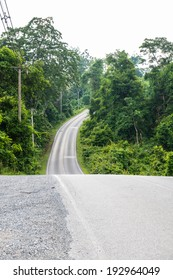 Road in national park, Thailand