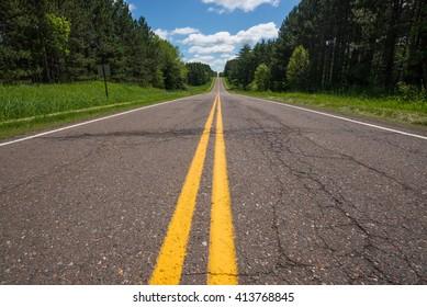Road near Echo lake entrance, Minnesota