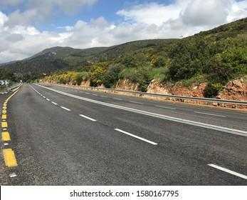 Road near Meron mountain, Safed, North Israel