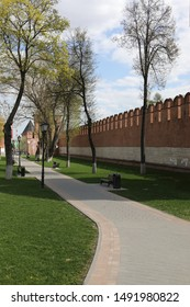 The road near the wall of the Tula Kremlin