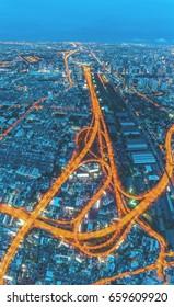 Road at night / City scape Bangkok / Nightlife