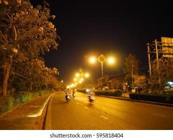 Road night view
