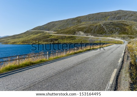 The road to Nordkapp, Finnmark Norway