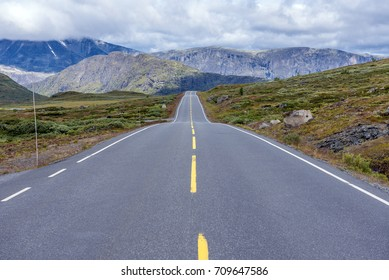 Road to nowhere - Road 51 in Jotunheimen National park, Norway