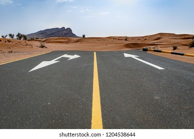 Road to nowhere in United Arab Emirates