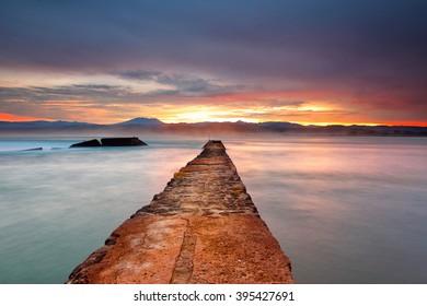 Road To Ocean Location Santolo Beach Beach Garut west Java Indonesia