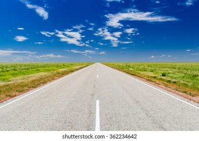 Road on the Australian desert