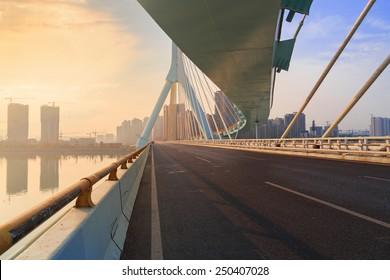 road on bridge