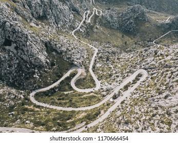 A road on the cliff in Majorca - Sa Calobra