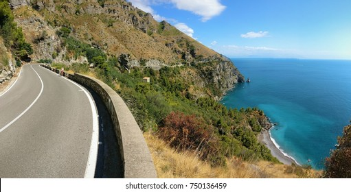 Road on the coast with great sea view