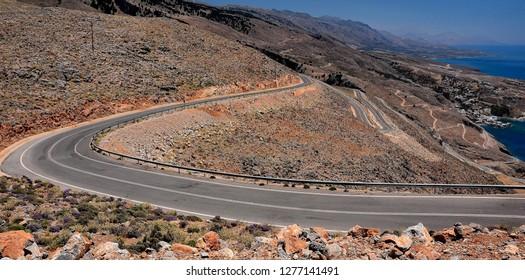 Road on the Crete Island
