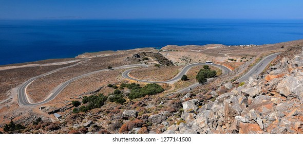 Road on the Crete Island