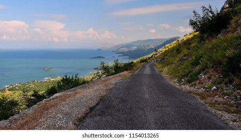 Road on the edge in Montenegro