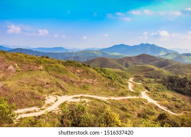 Road on the hill, Chang Suek Forward Operating Base at Thongphaphum Karnchanaburi Thailand