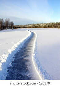 Road on the ice