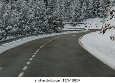 road on snow