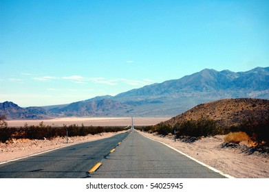 The road out of Death Valley National Park in California