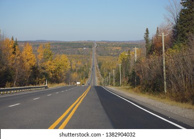road to parc national de frontenac from stratford on the summit drive of eastern townships in quebec, canada