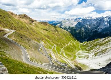 road at Passo dello Stelvio, Alto Adige, Italy