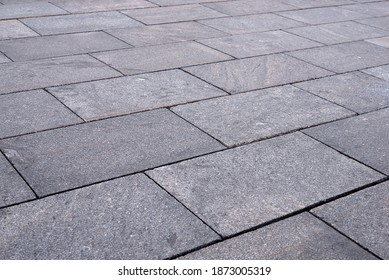 road paved with stone slabs