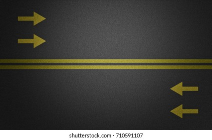 road pavement arrows 3D rendering 3D illustration