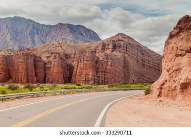 Road in Quebrada de Cafayate valley, Argentina