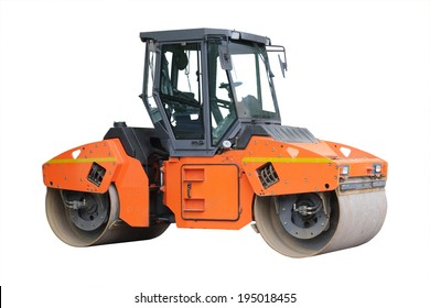 road roller isolated under the white background