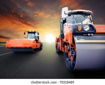 Road rollers for asphalt