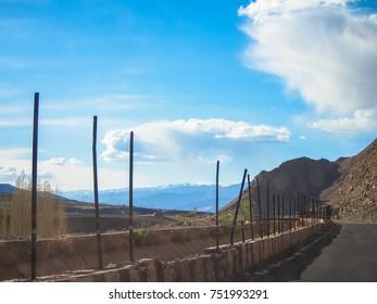 Road route, on Landscape of Lah ladakh